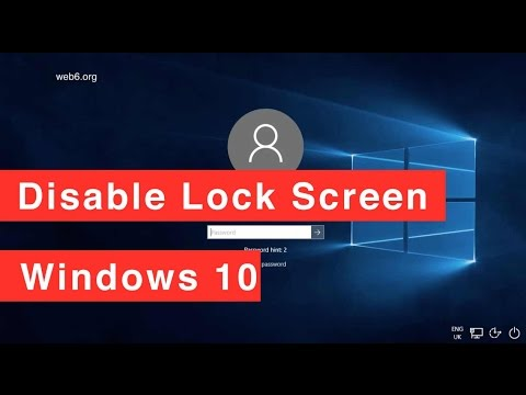 Disable Lock screen in windows 10