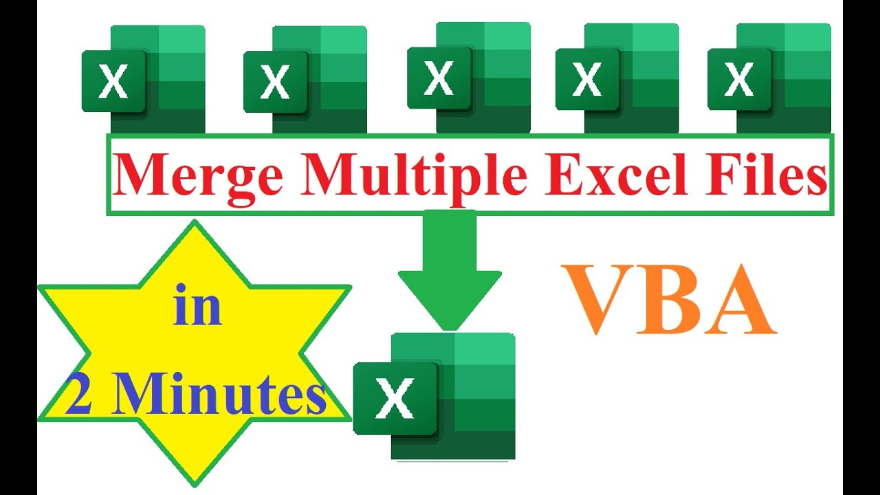 How to merge or Combine multiple Excel files into one in two minutes