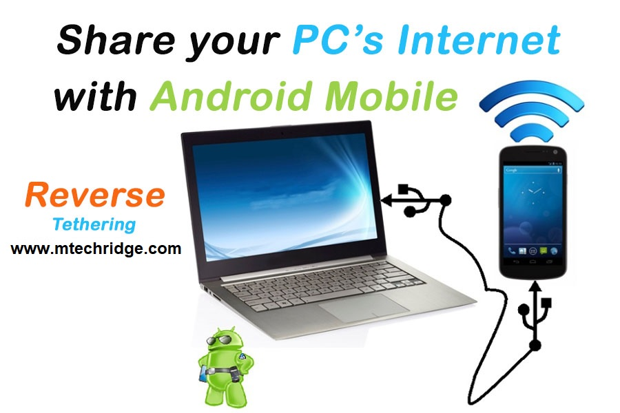 Share PC internet with Android (Reverse Tethering) (without Root)