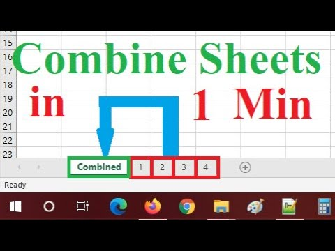 How to combine multiple sheet(Worksheet) into one sheet