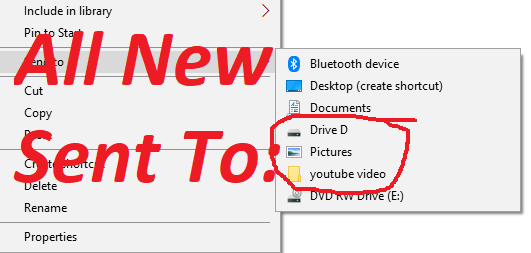 (Customize) Add Items in Send To menu Windows 7,8,8.1,10